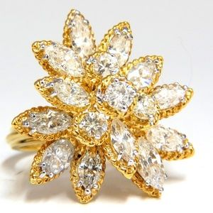 3.51ct Natural Diamonds Marquise & Rounds Cocktail